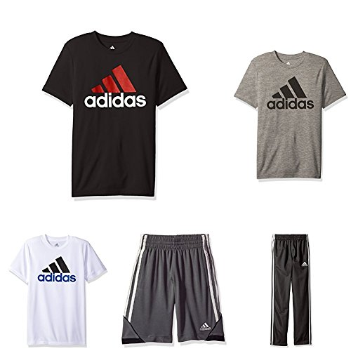 Adidas Big Boys 5-Piece Active Clothing Bundle, Multi Color Bundle, Medium by adidas
