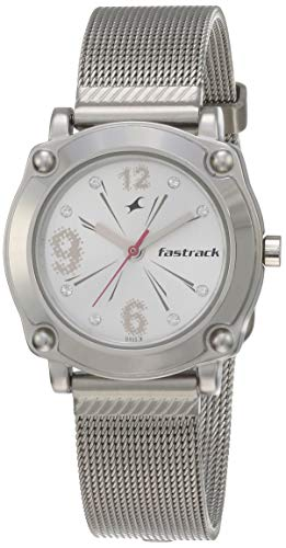 Fastrack Hip Hop Analog Silver Dial Women's Watch  NM6027SM01 / NL6027SM01