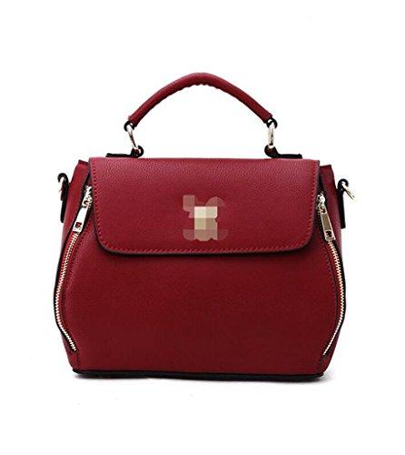 Tipo Borsa Donna università A Vintage 2 Bag Tracolla viaggio Spalla D'affari 1 Pelle In Sucastle Messenger B1xA8wqEA