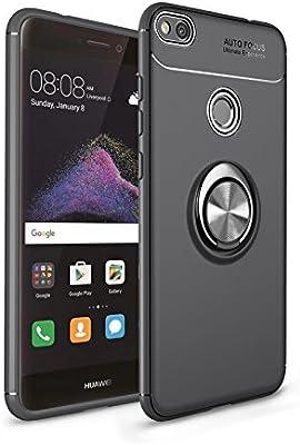 Anfire Funda Huawei P8 Lite 2017, Carcasa Anillo de Soporte Rotación de 360 Grados Suave Silicona Gel TPU Case Función Magnética Soft Cover para ...