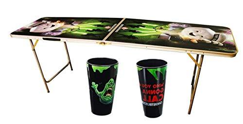 HealthyBells Party Time Bundle: Pint Glasses & Light-Up Beer Pong (Best Light Up Beer Pong Tables)