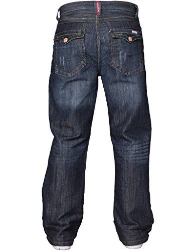 Tutte Basic Di Larga Da Svasato Uomo Blu Svasati Taglie Gamba Nuovo Jeans Design Darkstone Lavaggio Vita Denim w7I1qdxAA