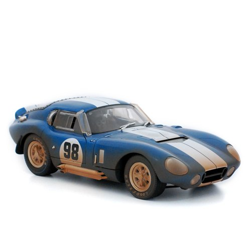 1965 Shelby Cobra Daytona Coupe After the Race 1:18 Scale (Blue/White (Shelby Cobra Daytona Coupe)