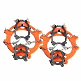Camping Camping & Hiking Tool - 12 Teeth Ice Boot Shoe Crampons Spike Cleats Gripper Climbing Outdoor -, 1 Pair of Crampons, 1 Carry Bag,
