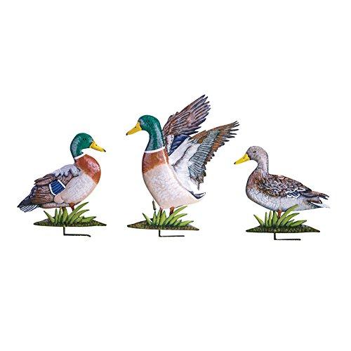 Mallard Duck 3D Garden Stakes - Set Of 3