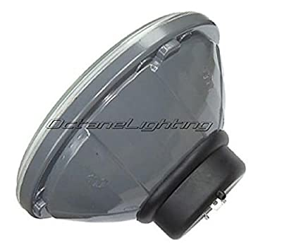 """OCTANE LIGHTING 7"""" Halogen Crystal Clear Red Led Halo Ring H4 Light Bulb Motorcycle Headlight"""