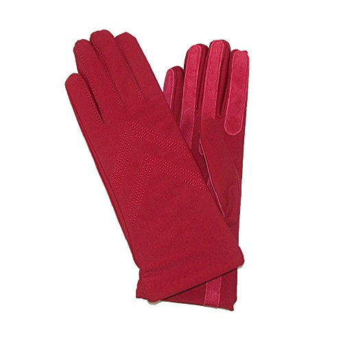 Isotoner Womens Knit Lined Spandex Winter Glove, Really Red - Spandex Winter Gloves
