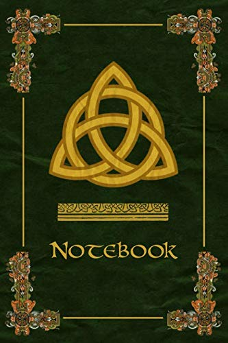 (Notebook: Celtic Trinity Knot Symbol Ornaments Green Journal, Wide Ruled 110 pages (6.14
