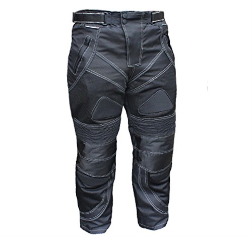 Bikers Gear Black Motorcycle Summer Air Mesh Pants Armored Waterproof