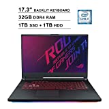 Compare CUK MSI WE75 (LT-MS-0392-CUK-001) vs ASUS ROG