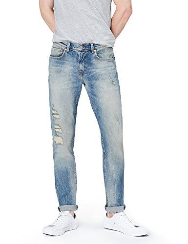 Jeans Sbiadito cobalt Wash Blu Uomo Find Lavaggio HSZw7q
