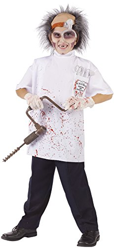 Child Killer Halloween Costume (UHC Boy's Killer Driller Doctor Horror Theme Child Halloween Costume, Child L (12-14))
