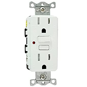 hubbell wiring systems gftr15w tradeselect gfci duplex receptacle with auto  grounding, weather and tamper-