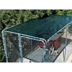Amazoncom 6ft x 14ft green outdoor dog kennel shade for Outdoor dog crate cover