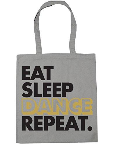 Beach Tote Dance Shopping Gym litres Repeat Light Sleep 10 42cm Eat Grey HippoWarehouse x38cm Bag AqT0xwR4A