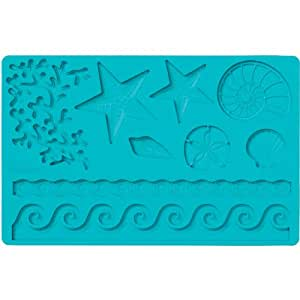 Wilton Fondant and Gum Paste Silicone Mold, Sea Life