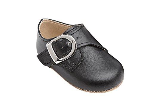 Taufschuhe Baby Schuhe Leder Sandalen Taufe Hochzeit Junge Mädchen schwarz (18-24 Monate, schwarz)