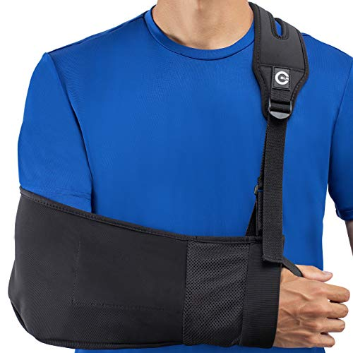 - Medical Arm Sling with Split Strap Technology, Maximum Comfort, Ergonomic Design By Custom SLR