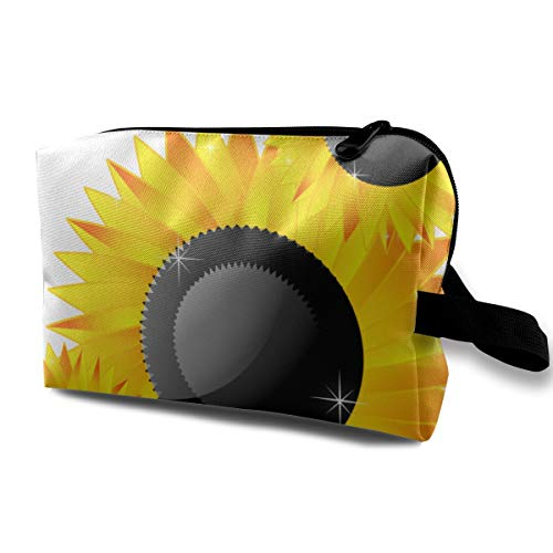 LEIJGS Sunflower Clipart Abstract Small Travel Toiletry Bag Super Light Toiletry Organizer for Overnight Trip Bag