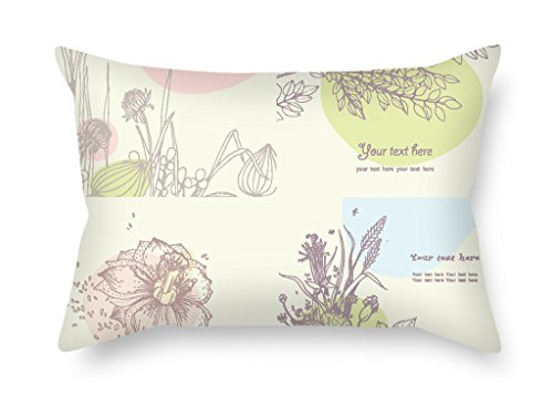Bestseason The Color Block Cushion Covers Of 20 X 26 Inches / 50 By 65 Cm Decoration Gift For Bedding Dining Room Play Room Sofa Him Indoor (both (Halloween Room 26 Roma)