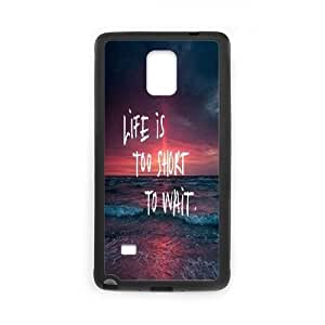 Customized Phone Case for SamSung Galaxy Note4 - LIFE is too short to wait case 2