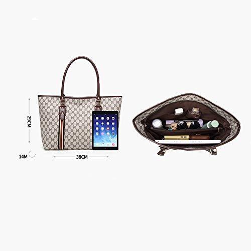 Maniglia Pelle Secchiello Messenger Donna All'acqua Resistente Borsa Nero Moda Design Pu Selvaggia Stampa Bag Elegante Top Hxxa Borse Bza101Ug