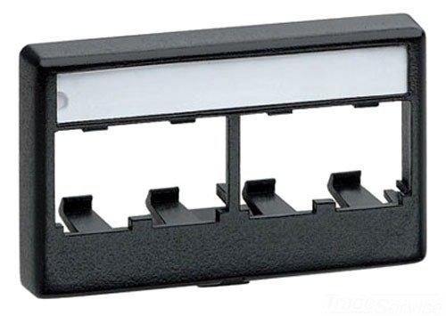 - Panduit CFFPL4IG Snap-On 4-Port Modular Furniture Faceplate, International Gray
