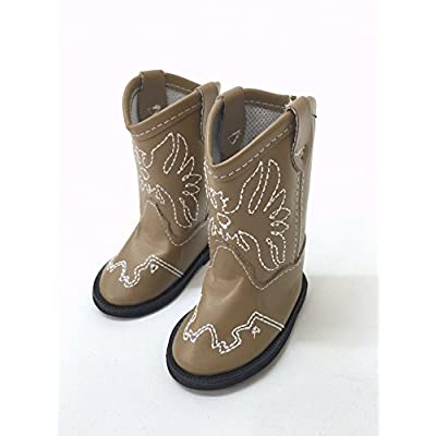 American Fashion World American Eagle Cowgirl Boots Made for 18-inch Dolls Such as American Girl Dolls (red): Toys & Games