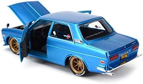 YN モデルカー ブルーモデルカー日産GTRダートソンスポーツカーオリジナルスタティックシミュレーション合金カーモデル1:24ギフトシリーズ ミニカー