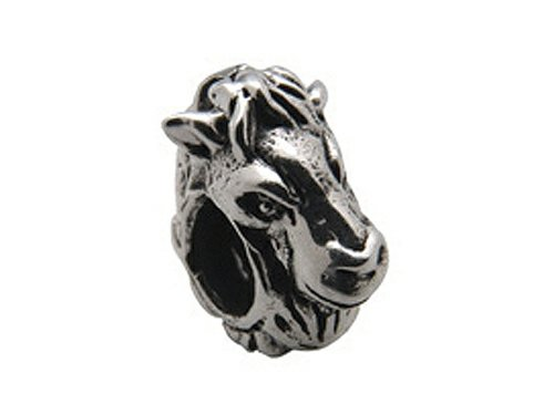 Zable Sterling Silver Horse Face Bead/Charm