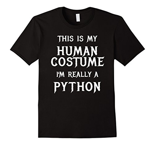[Mens I'm Really a Python Halloween Costume Shirt Easy Funny Large Black] (Python Costume)