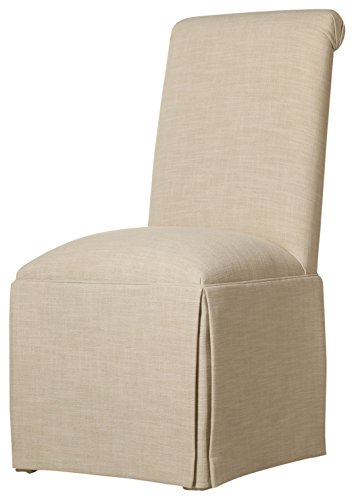 Sloane Whitney Sardis Skirted Parsons Chair, Cream (Chair Parsons Skirted)