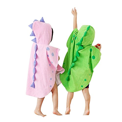 Children/'s Beach Towels Breathable Warm Child Cartoon Bathrobes Green