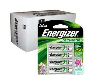 Energizer Recharge AA Rechargeable Batteries NiMH 2300mAh 24pk by Energizer