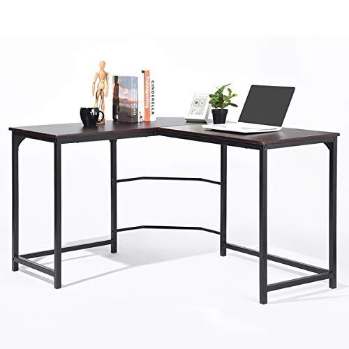 GreenForest L Shaped Desk Home Office Corner Computer Desk PC Laptop Study Table Workstation, Espresso by GreenForest (Image #4)