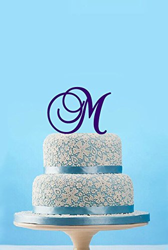 Amazon.com: Monogram Initial Cake Topper,Customized Initial