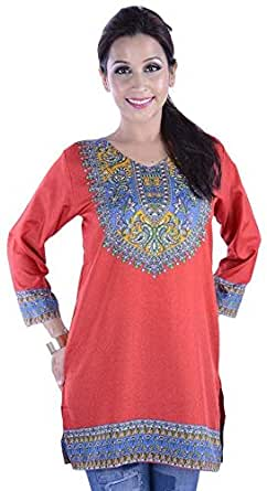 ClickonStyle Red Casual Kurta & Kurtis For Women