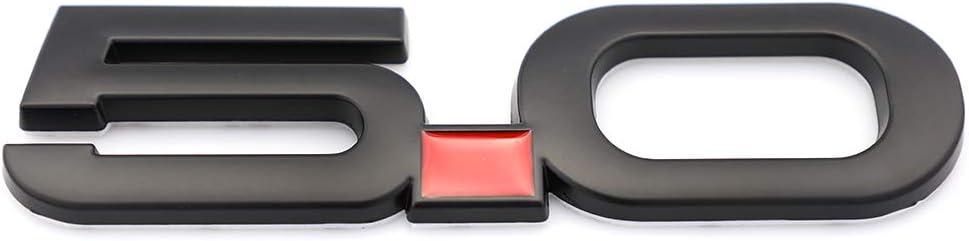 Black 2pcs 5.0 Emblem Decal Replacement For F150 Fx4 Mustang GT Coyote 5.0L V8 Metal Fender Badge Sticker