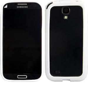 Bumper Concha Caso Cubrir Y Protector De Pantalla Para Samsung Galaxy S4 i9500 i9505 / White