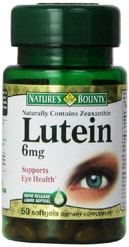 Natures Bounty Lutein Mg Count