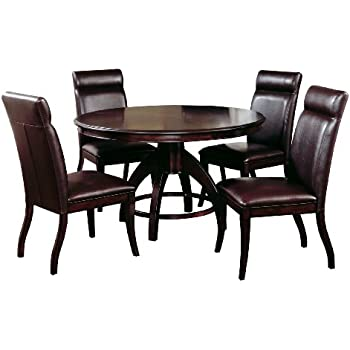 This Item Hillsdale Nottingham Round 5 Piece Dining Set Dark Espresso Includes 1 Table And 4 Chairs