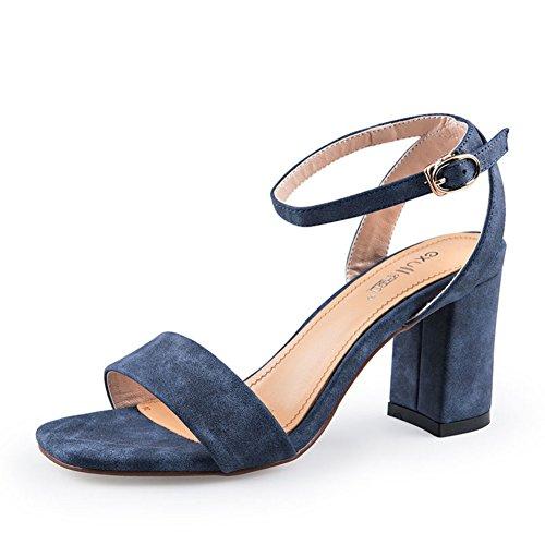 a61111649ecb8 Boucle Femme Mot Talon D'été Carrées chaussures Chaussures D'un A De  sandales I0znxYH