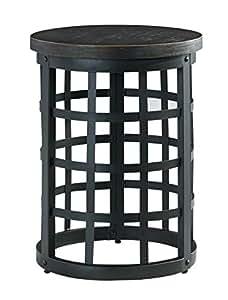 Ashley Furniture Signature Design - Marimon End Table - Accent Side Table - Round - Black