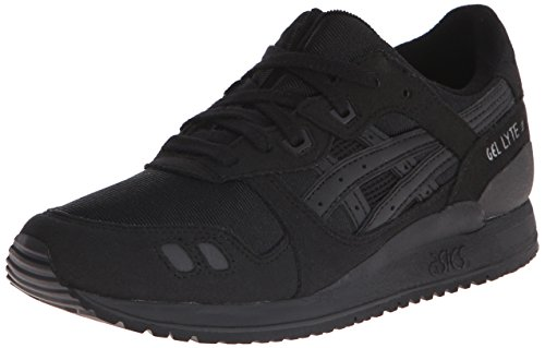Asics Junior Sneakers In Gel Gelatina Nera In Pelle Nera / Nera