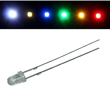 50x Superhelle Leds 3mm Warm Weiß 3000k 20ma 3 2v 4000 6000mcd 30 Konventionelle Led Beleuchtung