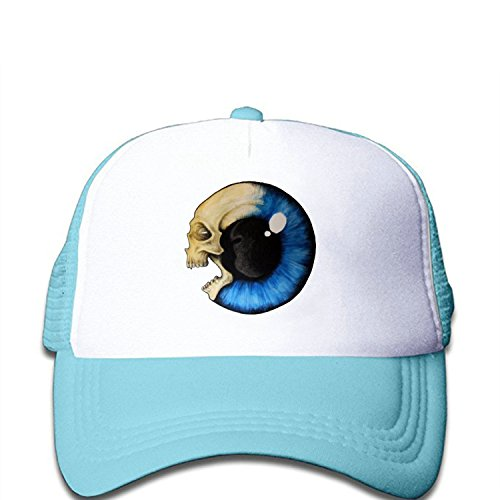 zmvise Eyeball cráneo impreso personalizado moda Gorra de béisbol Trucker de malla gorro Beanie, Azul (Skyblue), Medium