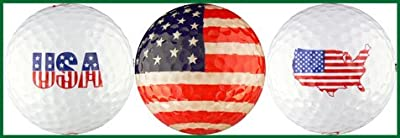 USA Flag Variety Golf Ball Gift Set