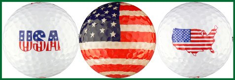 EnjoyLife Inc USA Flag Variety Golf Ball Gift Set