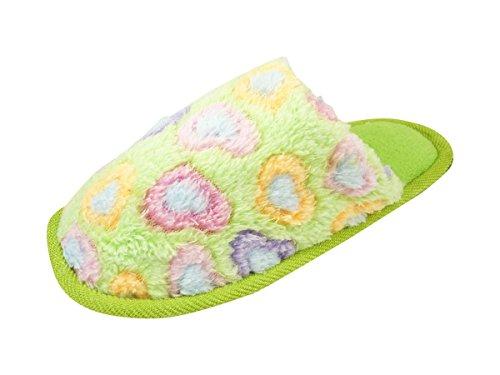 Pantuflas para mujer, diseño de calor de interior para el invierno Verde - verde