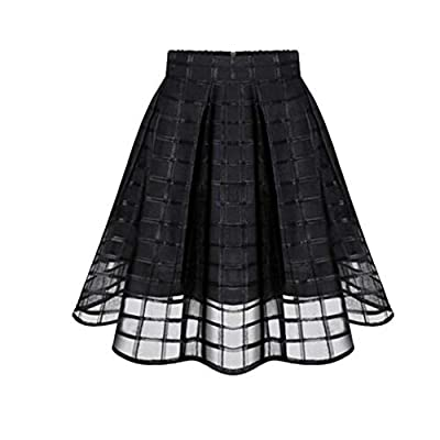 LISTHA Tulle Skirt for Women Organza Skirts High Waist Short Mini Pleated Shirt